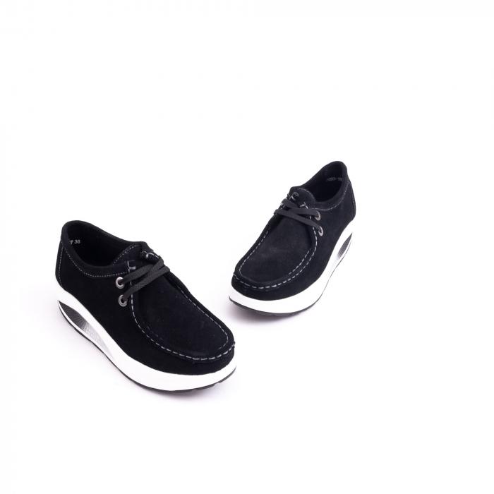 Pantof casual dama F003-1807 black suede 3