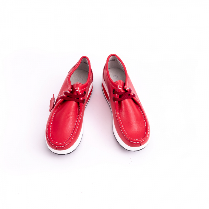 Pantof casual dama F003-1807 red leather [5]