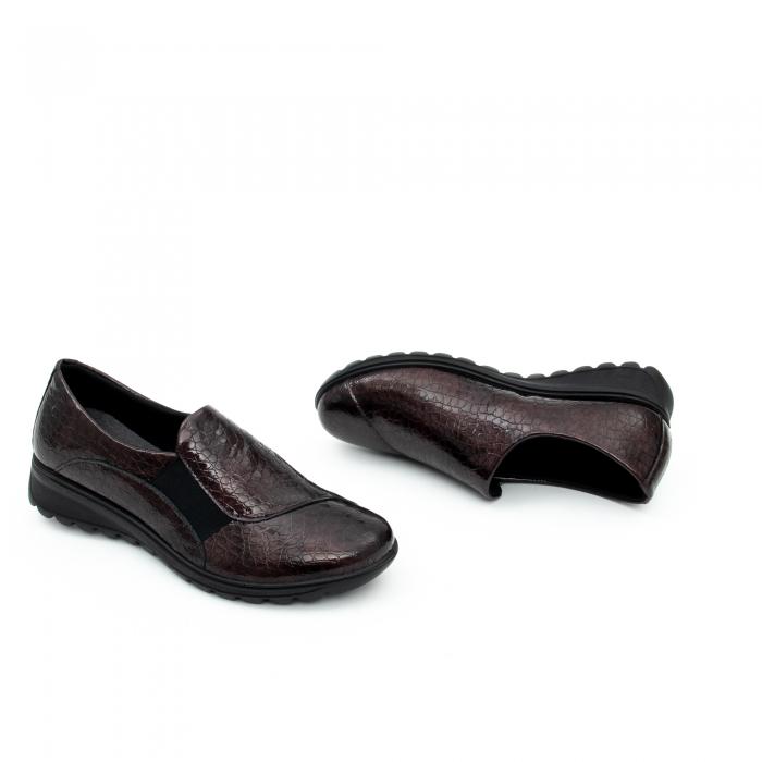 Pantof casual dama IMAC 9108 bordeaux 2