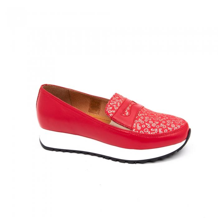 Pantof casual dama LFX 100 roze-rosu  semigrafiat 0