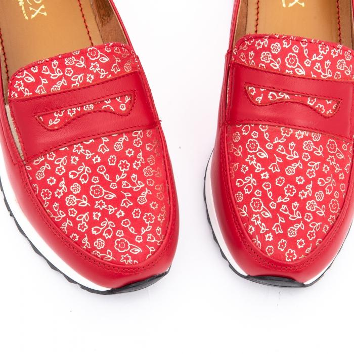 Pantof casual dama LFX 100 roze-rosu  semigrafiat 3