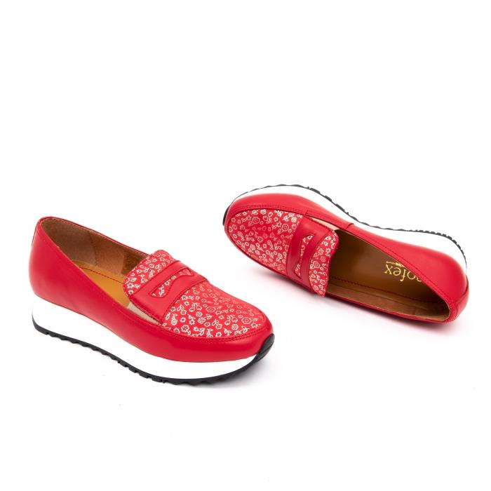 Pantof casual dama LFX 100 roze-rosu  semigrafiat 1
