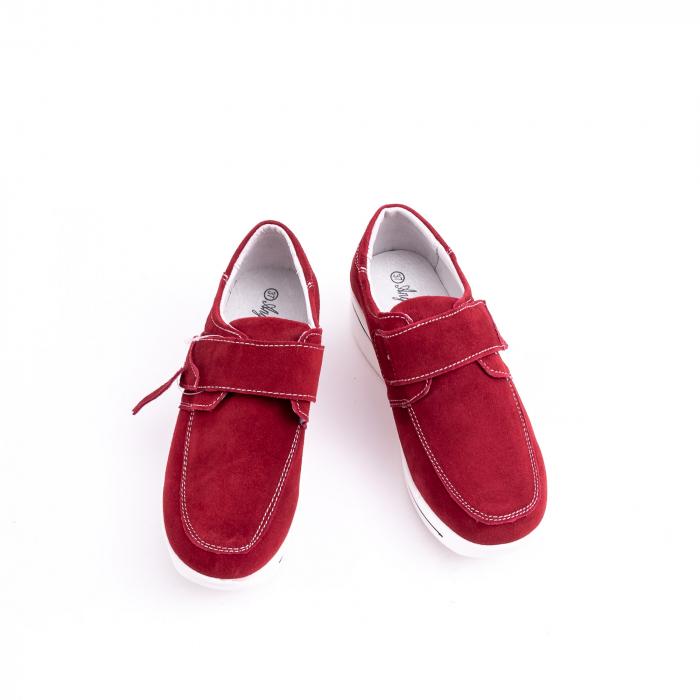 Pantof casual dama marca Angel Blue F002-56 burgundy suede 6