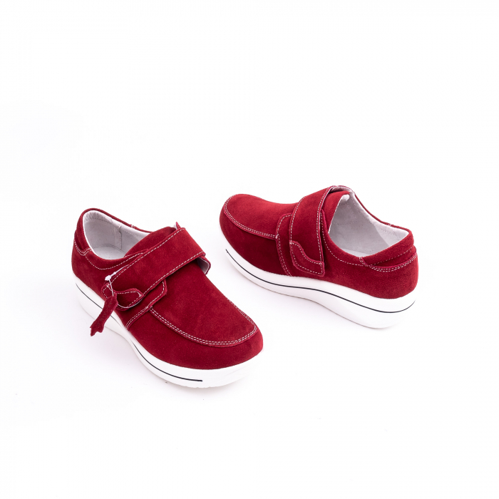 Pantof casual dama marca Angel Blue F002-56 burgundy suede 2
