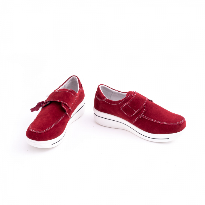 Pantof casual dama marca Angel Blue F002-56 burgundy suede 5