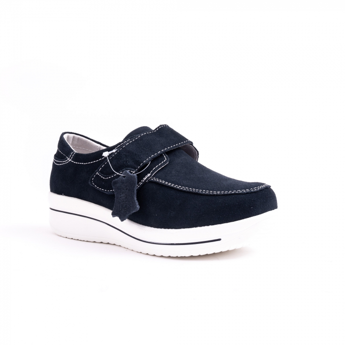 Pantof casual  Angel Blue F002-56 navy suede 0