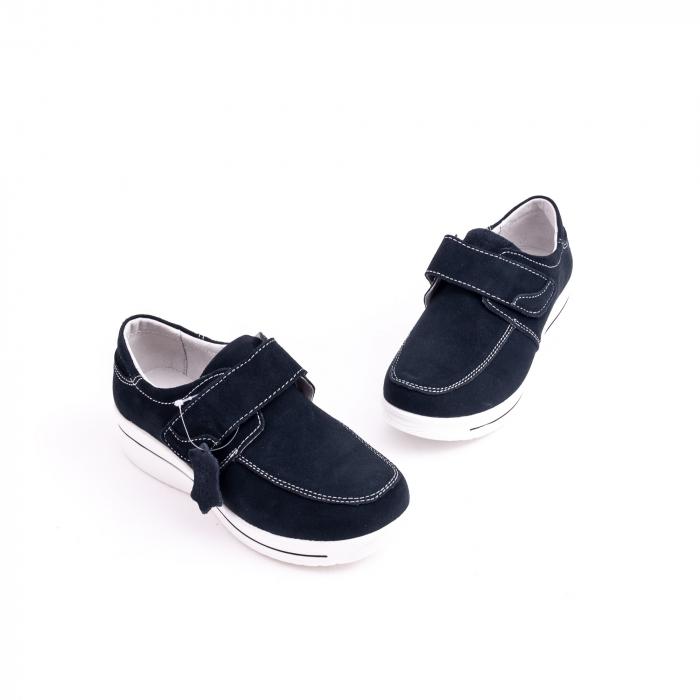Pantof casual  Angel Blue F002-56 navy suede 3