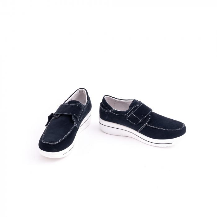 Pantof casual  Angel Blue F002-56 navy suede 4