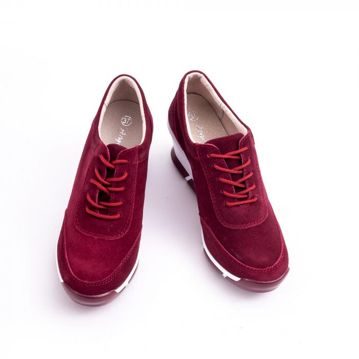 Pantof casual Angel Blue VK-F001-441 burgundy suede 4