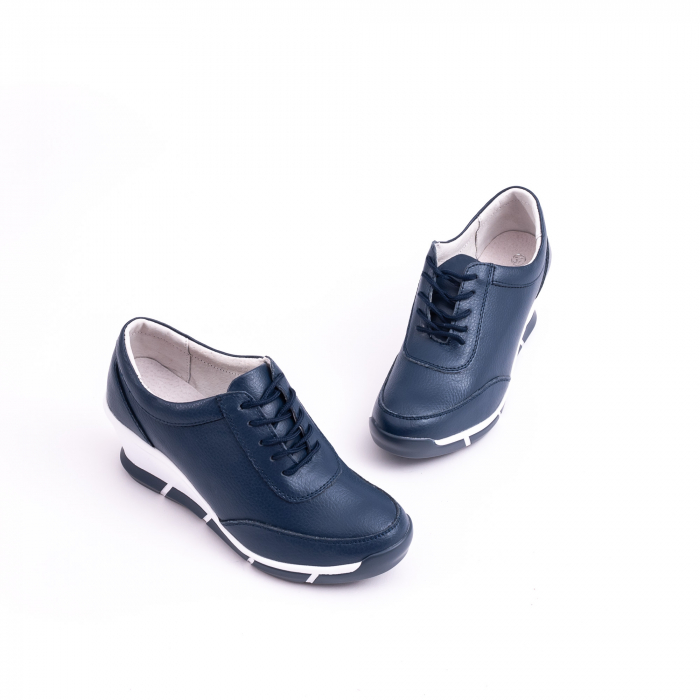 Pantof casual Angel Blue VK-F001-441 navy leather 3