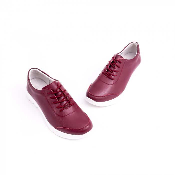 Pantof casual  Angel Blue VK-F001-442 burgundy leather 3