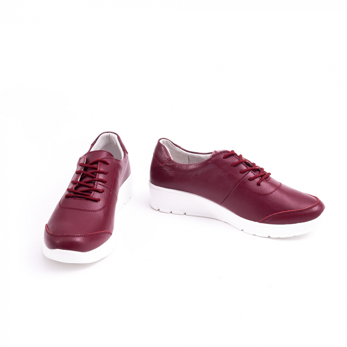 Pantof casual  Angel Blue VK-F001-442 burgundy leather 4
