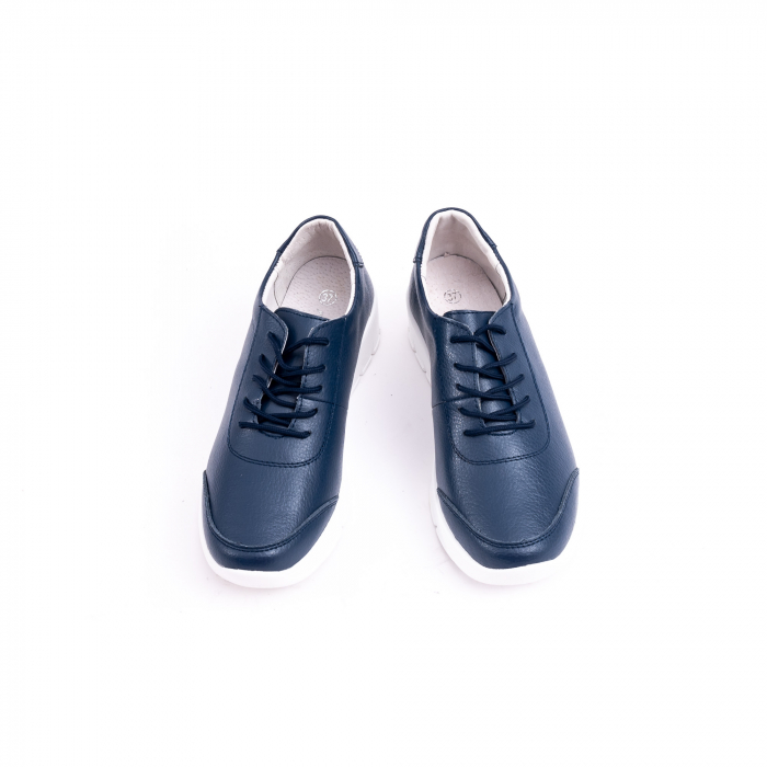 Pantof casual Angel Blue VK-F001-442 navy leather 4