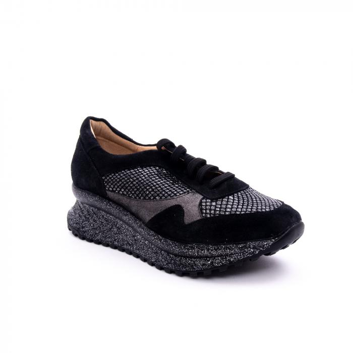 Pantof dama casual Nike Invest 1192, negru-argintiu 0