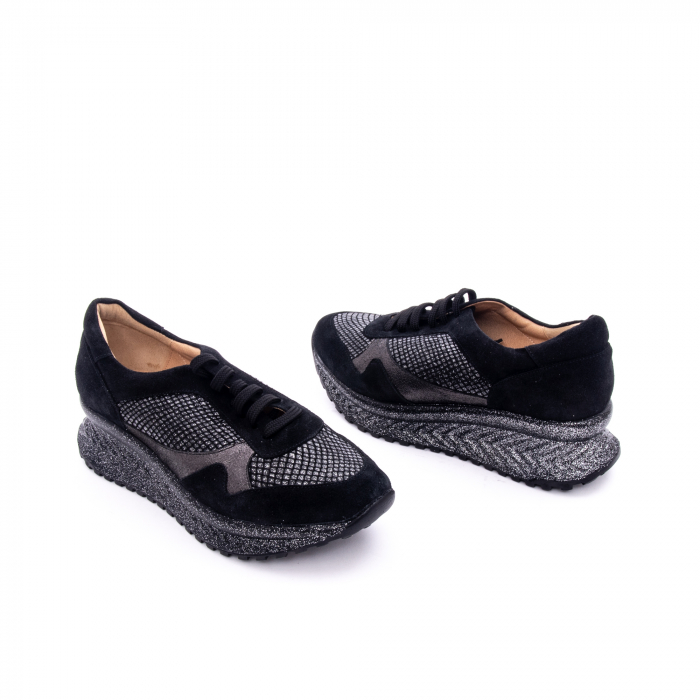 Pantof dama casual Nike Invest 1192, negru-argintiu 1