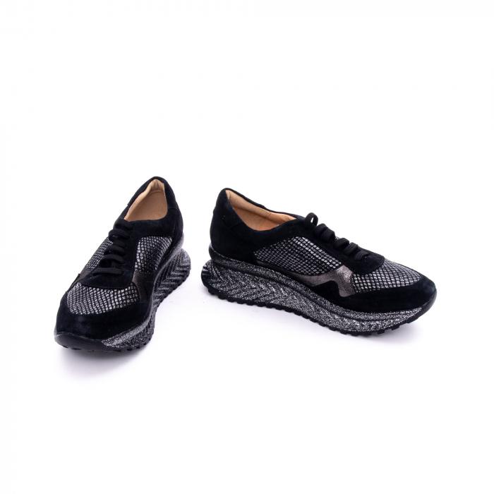 Pantof dama casual Nike Invest 1192, negru-argintiu 3