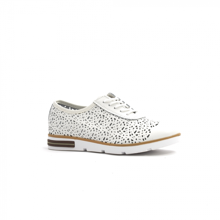 Pantof casual de vara 66626 alb 0