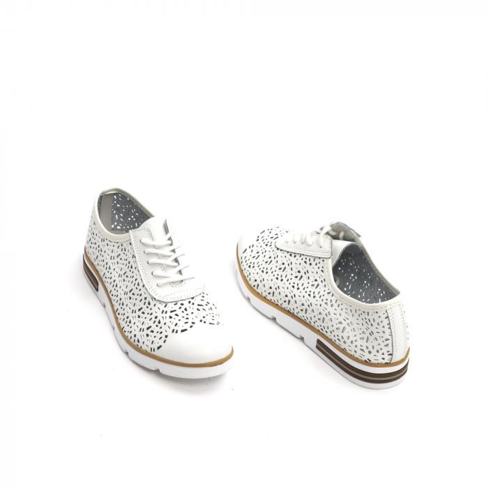 Pantof casual de vara 66626 alb 3