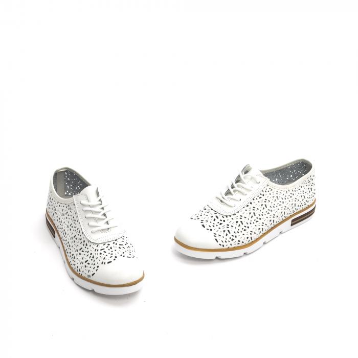 Pantof casual de vara 66626 alb 1