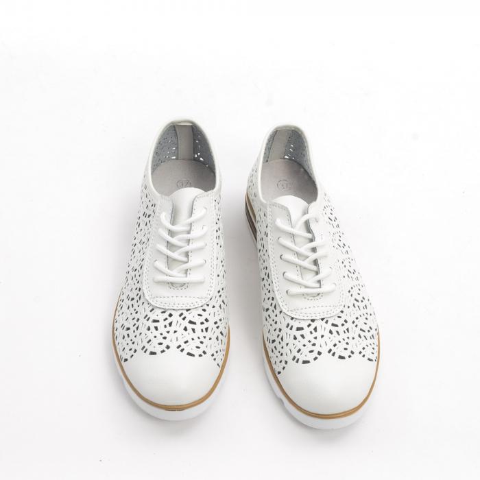 Pantof casual de vara 66626 alb 5