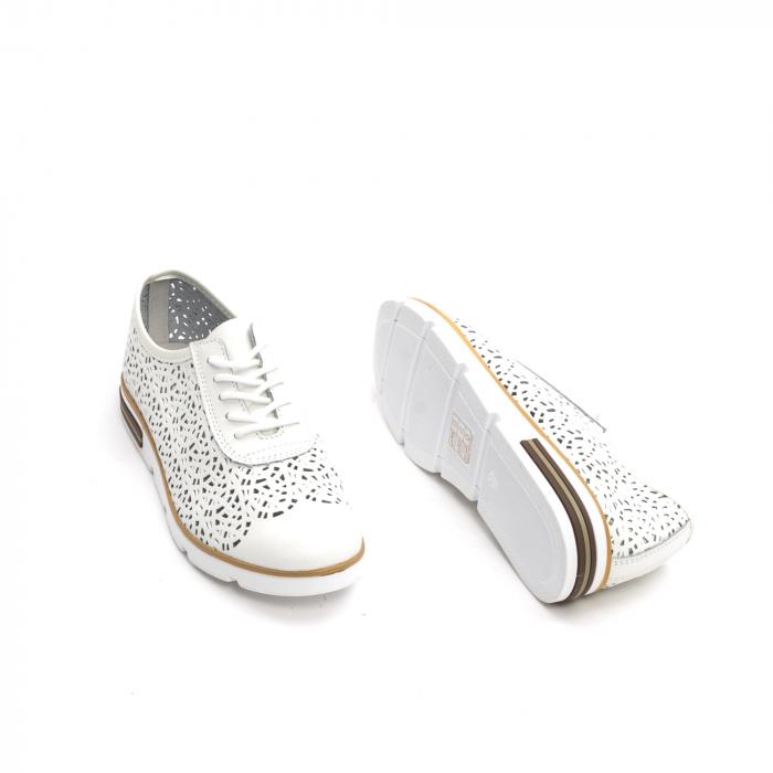 Pantof casual de vara 66626 alb 2