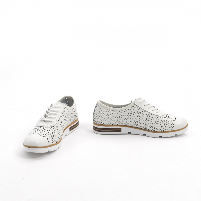 Pantof casual de vara 66626 alb 4