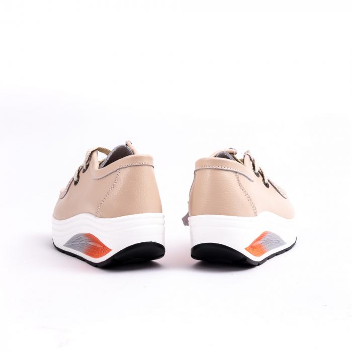 Pantof casual F003-1807 bej 5