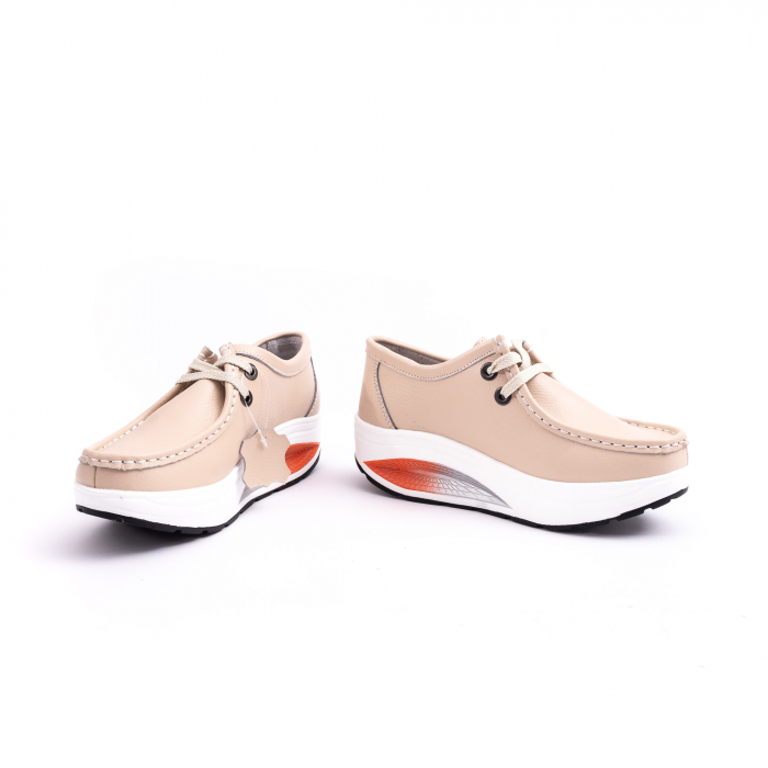 Pantof casual F003-1807 bej 4