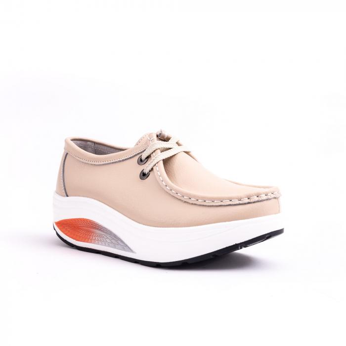 Pantof casual F003-1807 bej 0