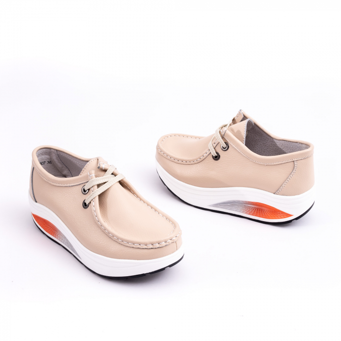 Pantof casual F003-1807 bej 2