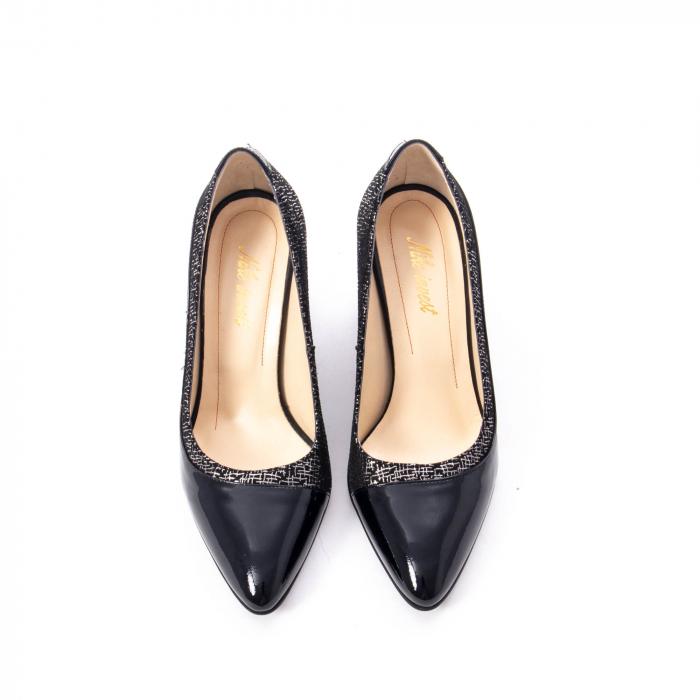 Pantofi eleganti dama piele naturala Nike Invest 287 NLN4, negru 5