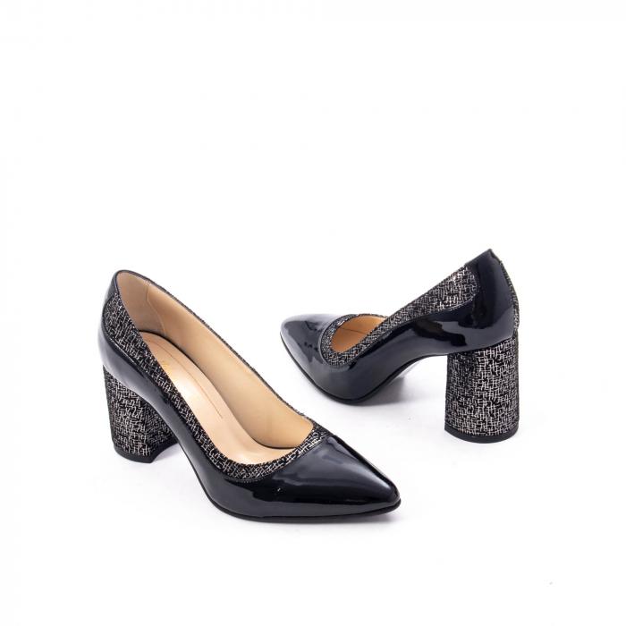 Pantofi eleganti dama piele naturala Nike Invest 287 NLN4, negru 2