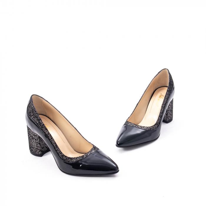 Pantofi eleganti dama piele naturala Nike Invest 287 NLN4, negru 1