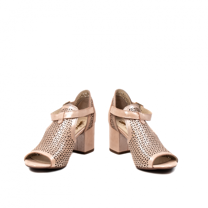 Pantof dama decupat elegant, piele naturala texturata, UF935 4
