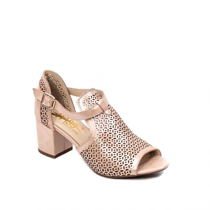 Pantof dama decupat elegant, piele naturala texturata, UF935 0