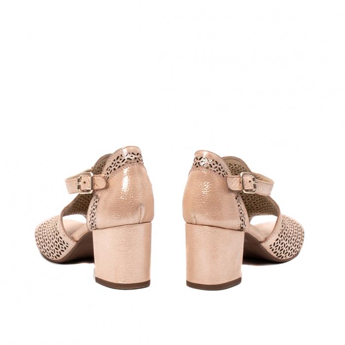 Pantof dama decupat elegant, piele naturala texturata, UF935 6