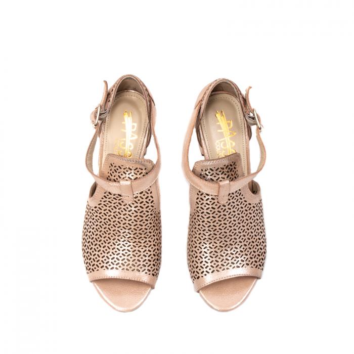 Pantof dama decupat elegant, piele naturala texturata, UF935 5