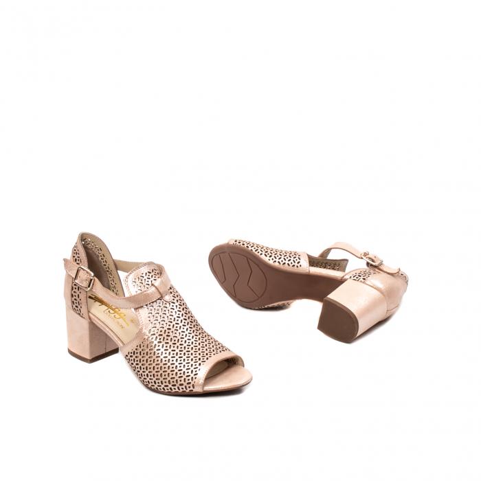 Pantof dama decupat elegant, piele naturala texturata, UF935 3