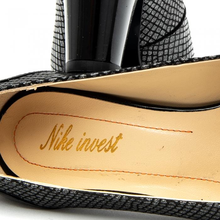 Pantofi dama eleganti piele naturala Nike Invest 953, negru 1