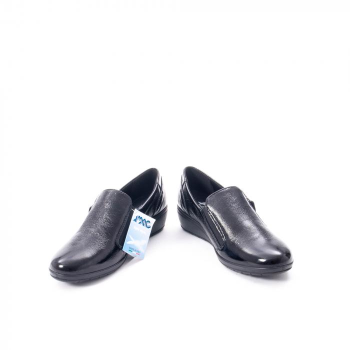 Pantofi casual dama piele naturala naplac Imac IC406960, negru 4