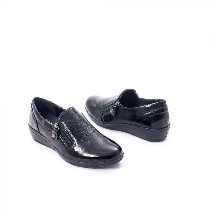 Pantofi casual dama piele naturala naplac Imac IC406960, negru 2