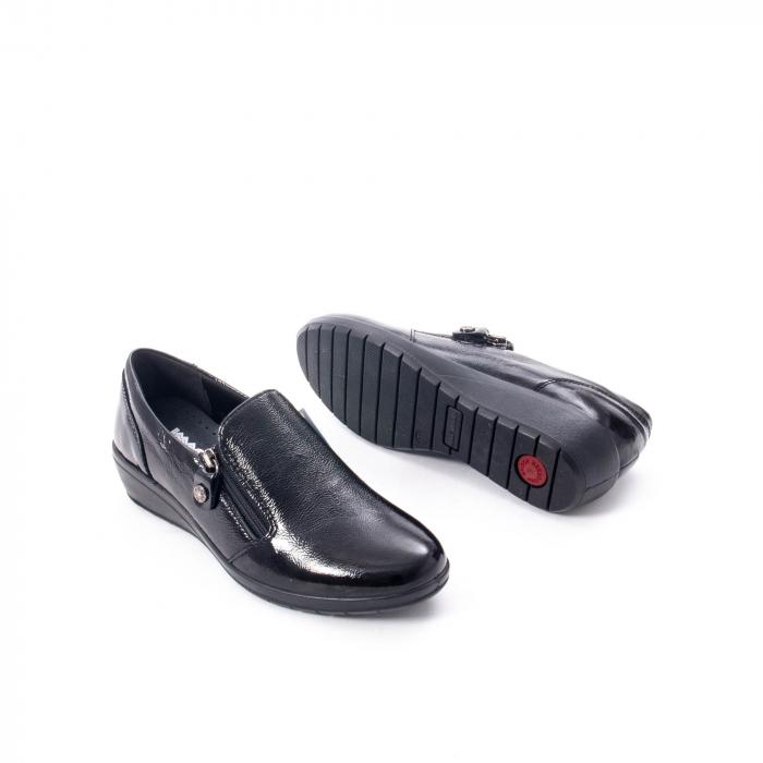 Pantofi casual dama piele naturala naplac Imac IC406960, negru 3