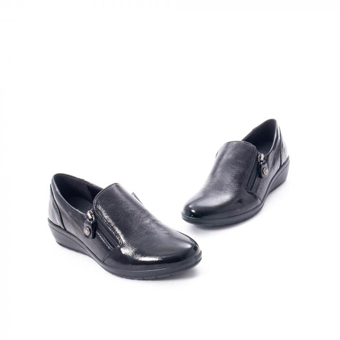 Pantofi casual dama piele naturala naplac Imac IC406960, negru 1