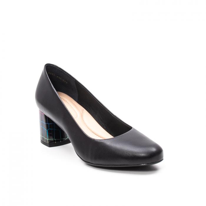 Pantofi dama eleganti, piele naturala, EP-oe9690-535-586, negru 0