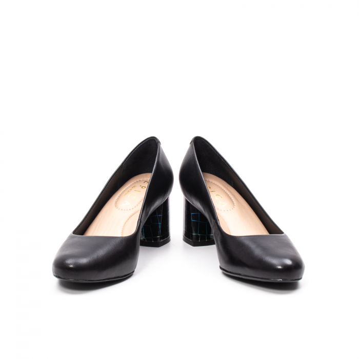 Pantofi dama eleganti, piele naturala, EP-oe9690-535-586, negru 4