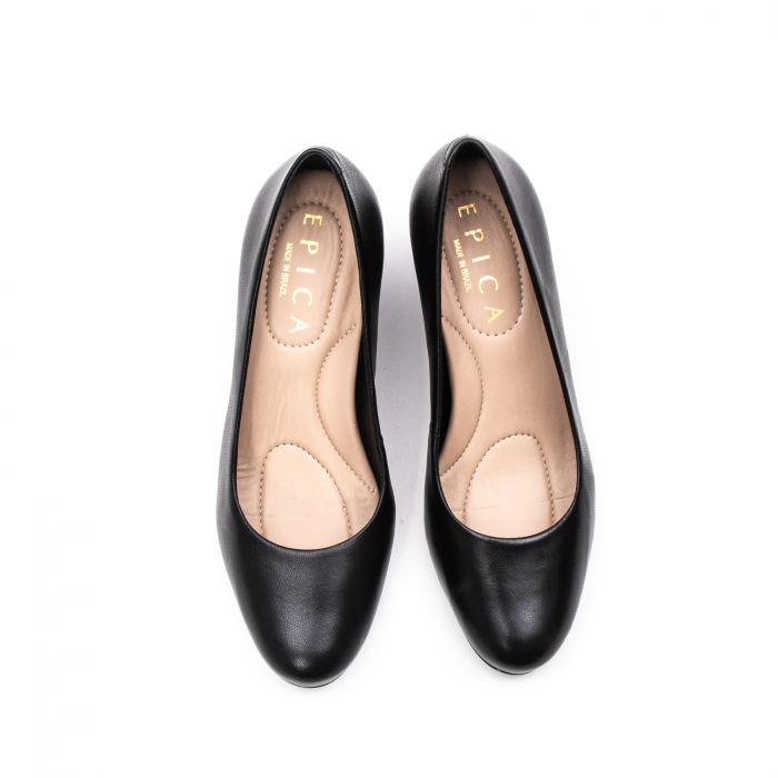 Pantofi dama eleganti, piele naturala, EP-oe9690-535-586, negru 5
