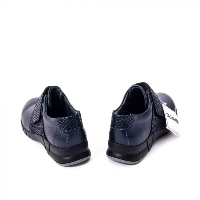 Pantofi casual dama piele Suave Sukyoto 9203, bleumarin 1