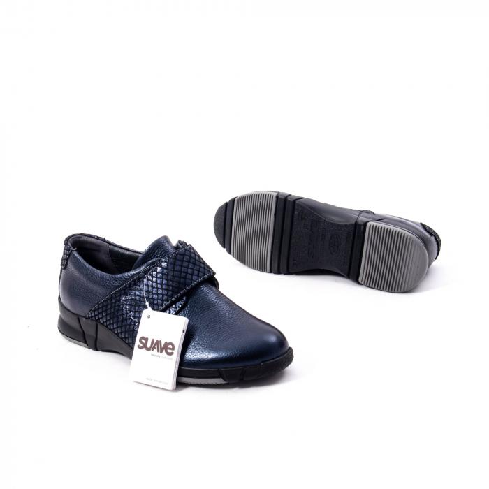 Pantofi casual dama piele Suave Sukyoto 9203, bleumarin 3