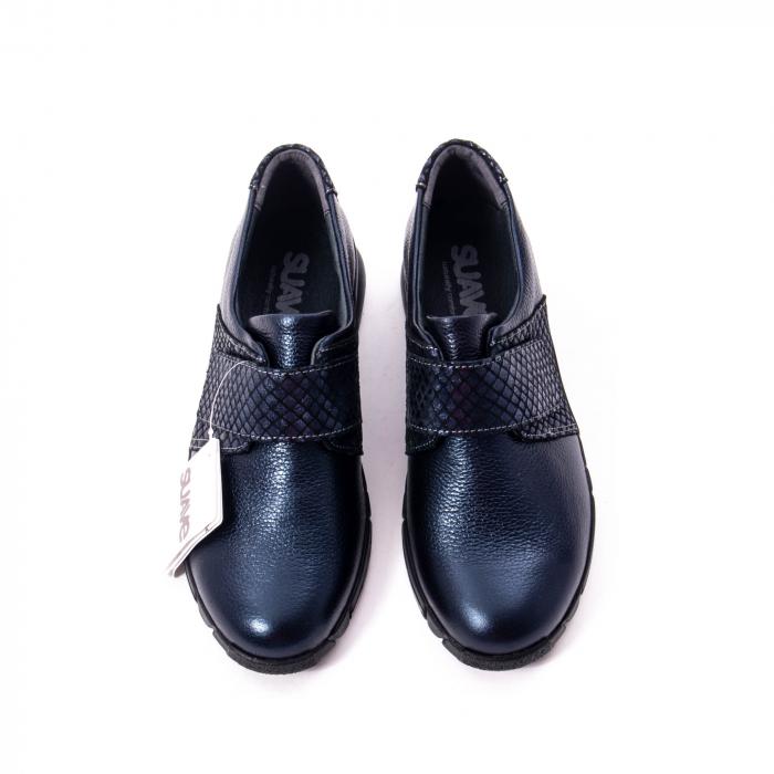 Pantofi casual dama piele Suave Sukyoto 9203, bleumarin 4