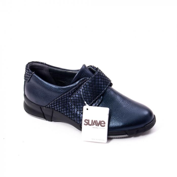 Pantofi casual dama piele Suave Sukyoto 9203, bleumarin 0